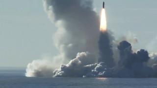 """Русия пусна видео от изстрелване на балистична ракета """"Булава"""""""