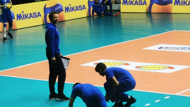 Срещата от мъжката волейболна Суперлига между Левски - Пирин (Разлог)