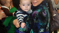 Юлиана Дончева с бебето на Бабинден (СНИМКИ)