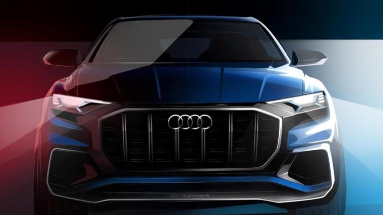 Audi представя голям кросоувър Q8 през януари