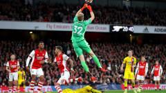 Арсенал се добра до равенство с Кристъл Палас в последните секунди