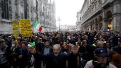 Арести и сигнали за нарушения след вчерашния COVID протест в Италия