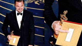 Леонардо ди Каприо показа среден пръст на Академията