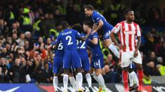 Челси разнищи Стоук и измести Юнайтед от второто място (ВИДЕО)