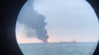 Два танзанийски кораба горят в района на Керченския пролив