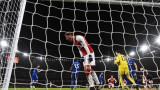 Зрелищно равенство в дербито между Арсенал и Челси