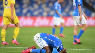 Наполи се издъни срещу Верона и изпусна Шампионската лига