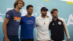 Турнирът на Джокович отменен заради заразения Григор Димитров