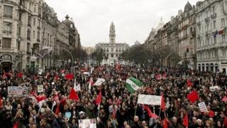 Португалците отново протестираха срещу бюджетните съкращения
