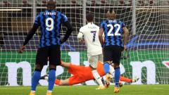 Интер - Реал (Мадрид) 0:2 (Развой на срещата по минути)