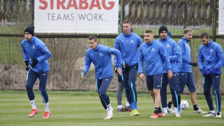Левски ще направи последно занимание преди дербито с Лудогорец в