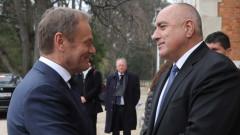Борисов и Туск обсъждат важността на отношенията между Турция, ЕС и България
