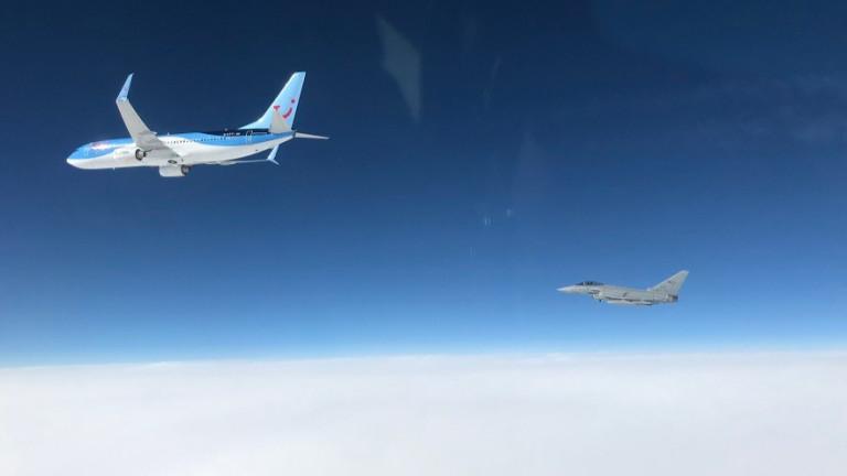 Италиански Eurofighter прихвана самолет над Черна гора