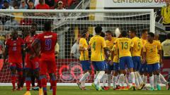 Бразилия намачка горките футболисти на Хаити