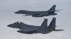 Япония тренира с бомбардировачи и изтребители на САЩ край Корейския полуостров