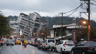 Шестима загинали и 88 изчезнали при земетресението в Тайван