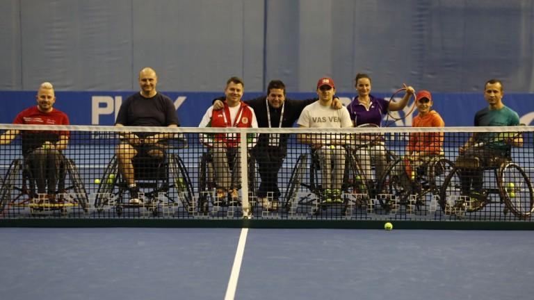 Националите по тенис в колички с демонстрация по време на Sofia Open