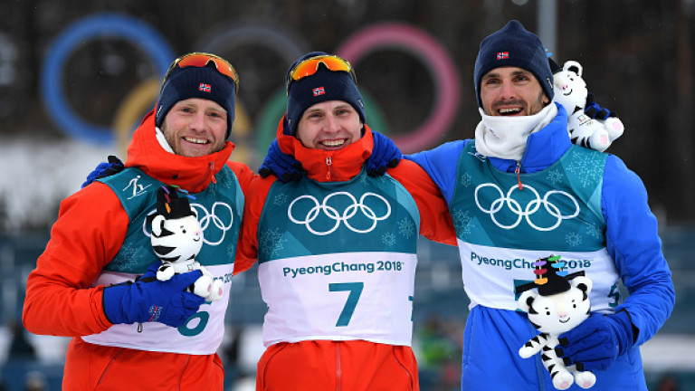 Норвежци окупираха призовите места в 30-те км скиатлон в ПьонгЧанг