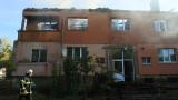 Жилищен блок горя в Божурище, няма ранени