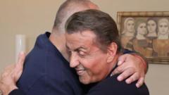 Борисов се хвали с клип от Сталоун за рожден ден