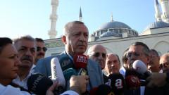 Ердоган припадна по време на молитва