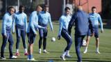 В Левски тренираха на две отделни групи, Михайлов не участва в заниманието