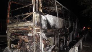 Автобус с чуждестранни туристи изгоря край Бургас