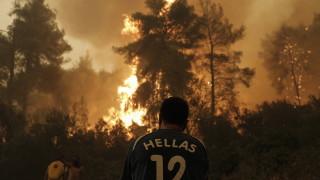 Евакуират гръцкия остров Евия, пожарите заплашват жителите