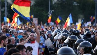 100 000 протестираха срещу правителството в Букурещ, има ранени