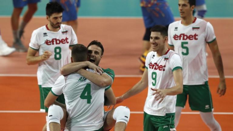 Либерото на националния отбор на България Теодор Салпаров говори след