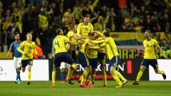 """Швеция направи първата крачка към световните финали, кошмарът от 1958-а застига """"Скуадра адзура"""""""