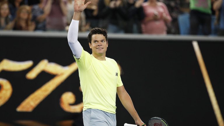 Канадският тенисист Милош Раонич успя да изхвърли шестия в света