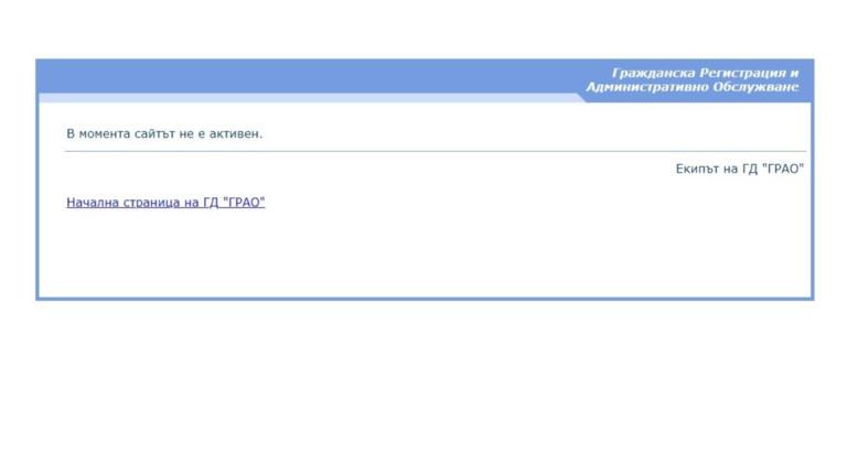 СайтътГлавна дирекция