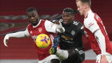 Арсенал и Манчестър Юнайтед завършиха 0:0 в мач от Висшата лига
