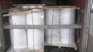 """Задържаха над 15 тона фалшива хартия за цигари на """"Дунав мост"""" - Видин"""