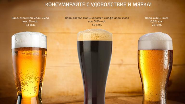 При светлите бири тип пилзнер, които традиционно са с над