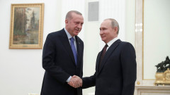 Путин и Ердоган проведоха телефонен разговор