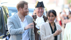 Принц Хари и Меган Маркъл за първи път в Съсекс