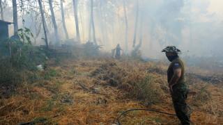 Голям пожар избухна близо до индустриална зона на Атина, проблеми с влаковете