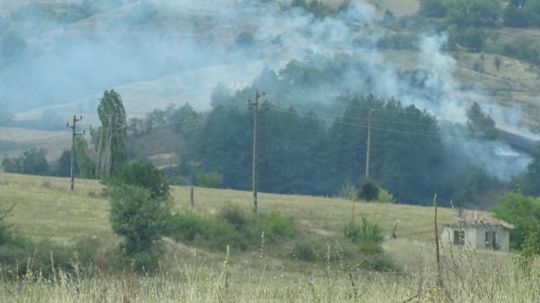 Пожарът в пазарджишкото село Долно Вършило е локализиран