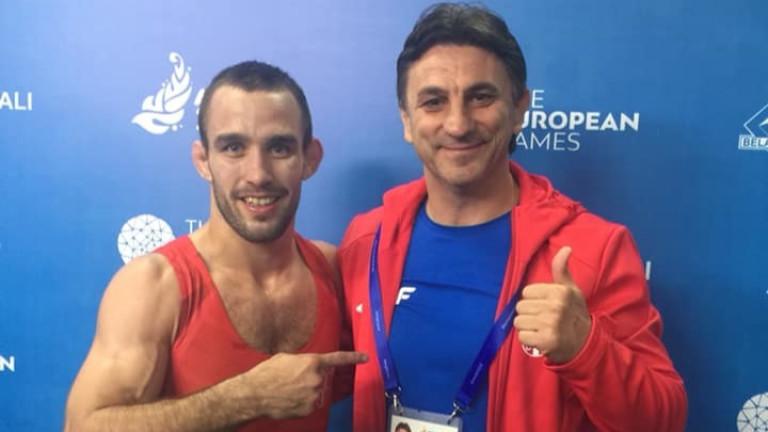 Стоян Добрев, двукратен европейски шампион по класическа борба, празнува рожден