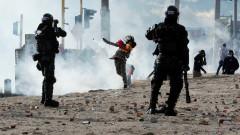 Стотици пострадали при нови протести в Колумбия