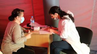 Голям интерес към пунктовете за ваксинация в софийски паркове
