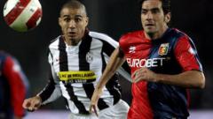 Трезеге почва титуляр срещу Лацио