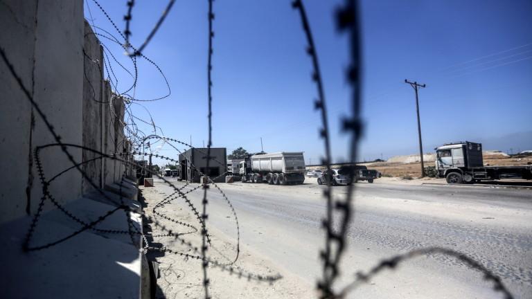 Днес Израел затвори единствения пропускателен пункт за хора с Ивицата