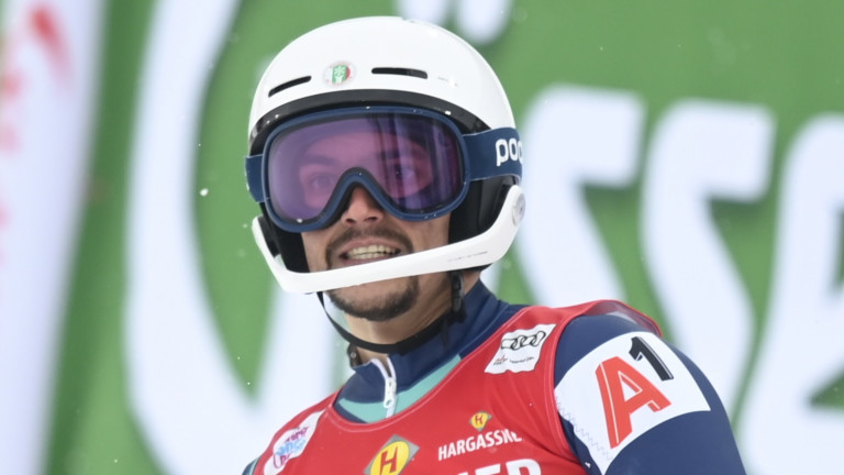 Алберт Попов с първа победа за сезона в гигантския слалом