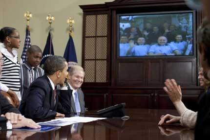 Барак Обама позвъни в космоса