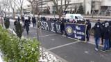 Фенове на Босна протестират срещу Петев при представянето му