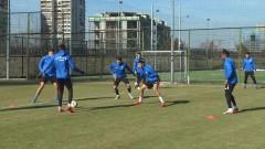 Левски тренира без двама