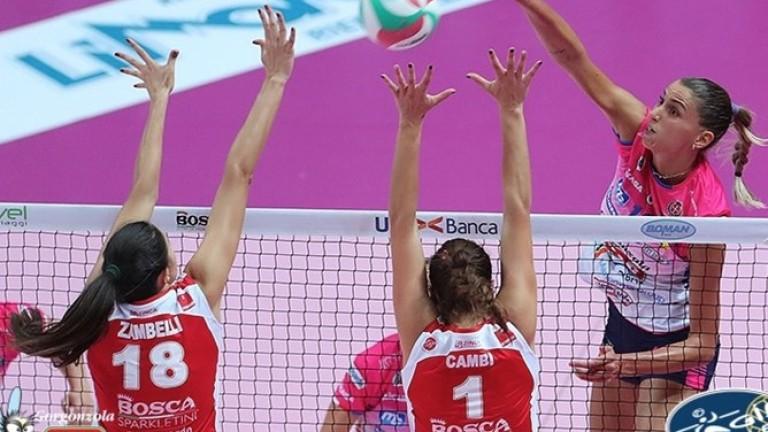 Елица Василева и клубният ѝ Новара стартираха победно сезона в